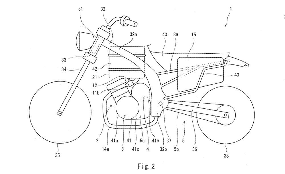 Kawasaki запатентовали гибридный мотоцикл