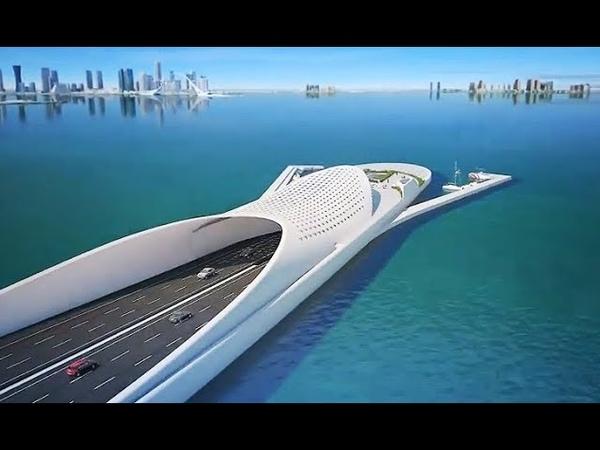 The Doha Sharq Crossing : Qatar Extraordinary Mega Project - Most Beautiful Bridge In Middle East