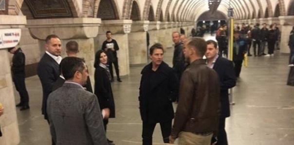 Том Круз сегодня навестил Киев по приглашению Владимира Зеленского