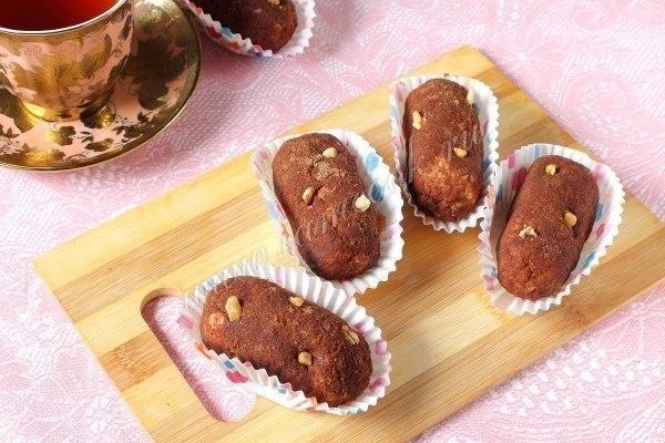 Пиpожное «Картошка» из печенья.