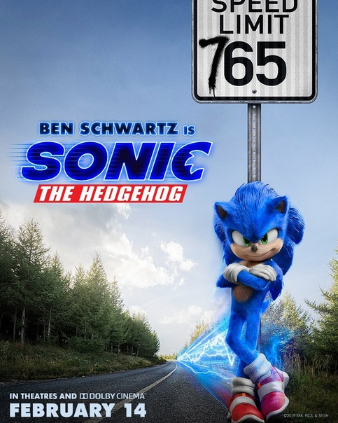 Новый постер «Соника в кино»