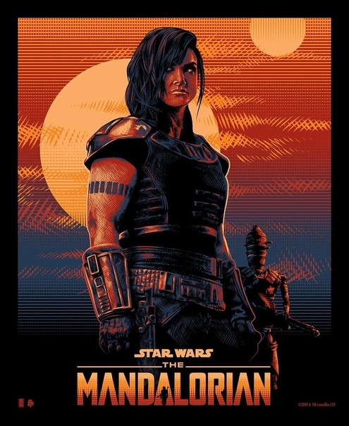 Джина Карано на новом арт-постере сериала «Мандалорец»