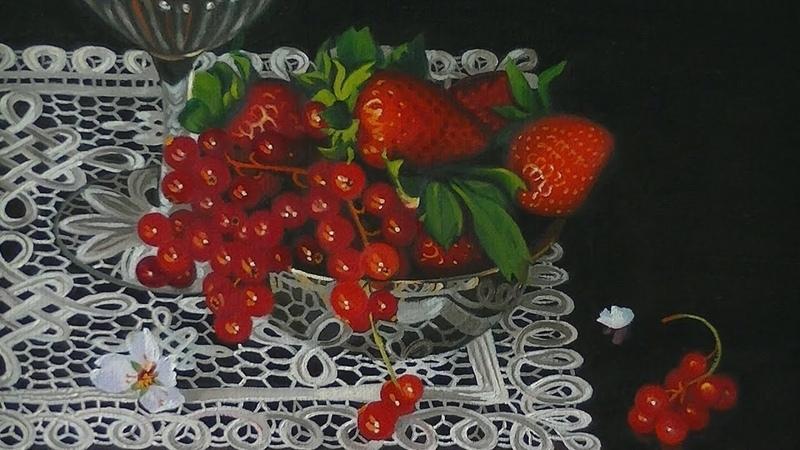 Pintura al óleo Flores de almendro