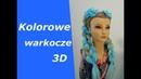 Kolorowe warkocze 3D. Objętościowe warkocze z kanekalonem