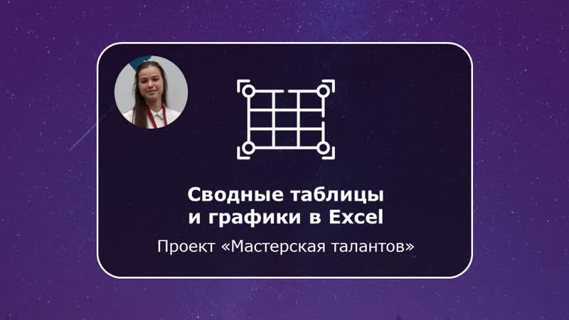 Карина Хафизова Сводные таблицы и графики в Excel