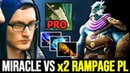 MIRACLE Sneaky Windranger vs Double Rampage Cancer Lancer 7 22 Dota 2