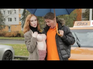 Lenina crowne redhead distracts with no bra on (big tits, blowjob, pussy fingering, car, outdoors, amateur, cowgirl, red head)
