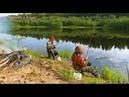 Рыбалка. Попали на клёв плотвы.