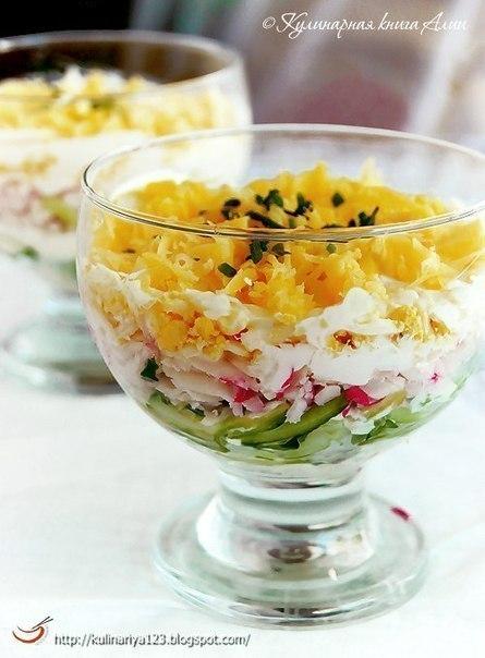"""Салат """"Вкусный"""". Вкусно и быстро в приготовлении!"""
