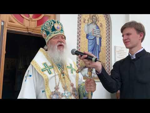 Проповедь м.Агафангела в Свято-Покровском скиту