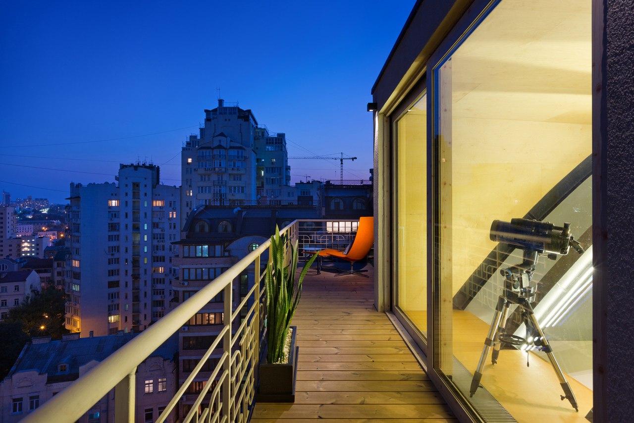 Атмосферная квартира с террасой и видом на город