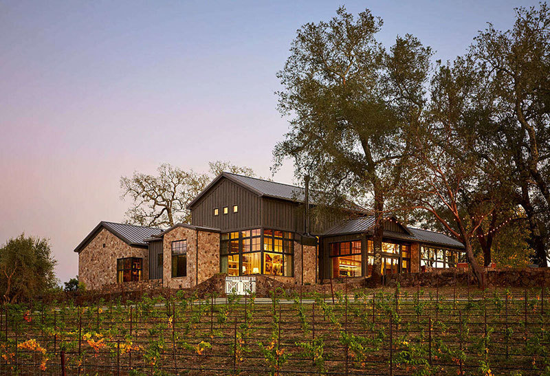 Прекрасное ранчо с бассейном и виноградниками в Калифорнии || 02