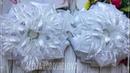 бантики в школу из лент МК Канзаши Алена Хорошилова tutorial diy ribbon bows kanzashi из органзы