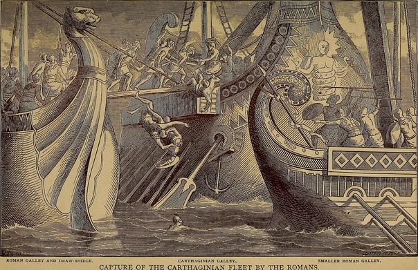 Сражение между римлянами и карфагенянами