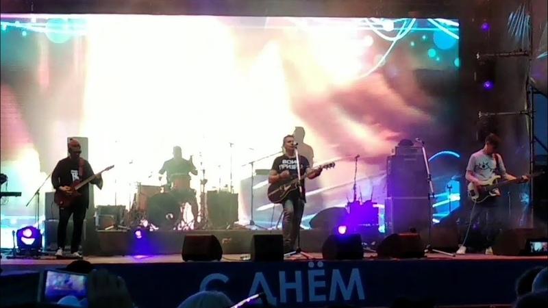 День Металлурга в Магнитогорске выступление рок группы 7 Б 19 07 2019