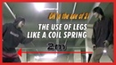 The use of legs like a coil spring - DK Yoo