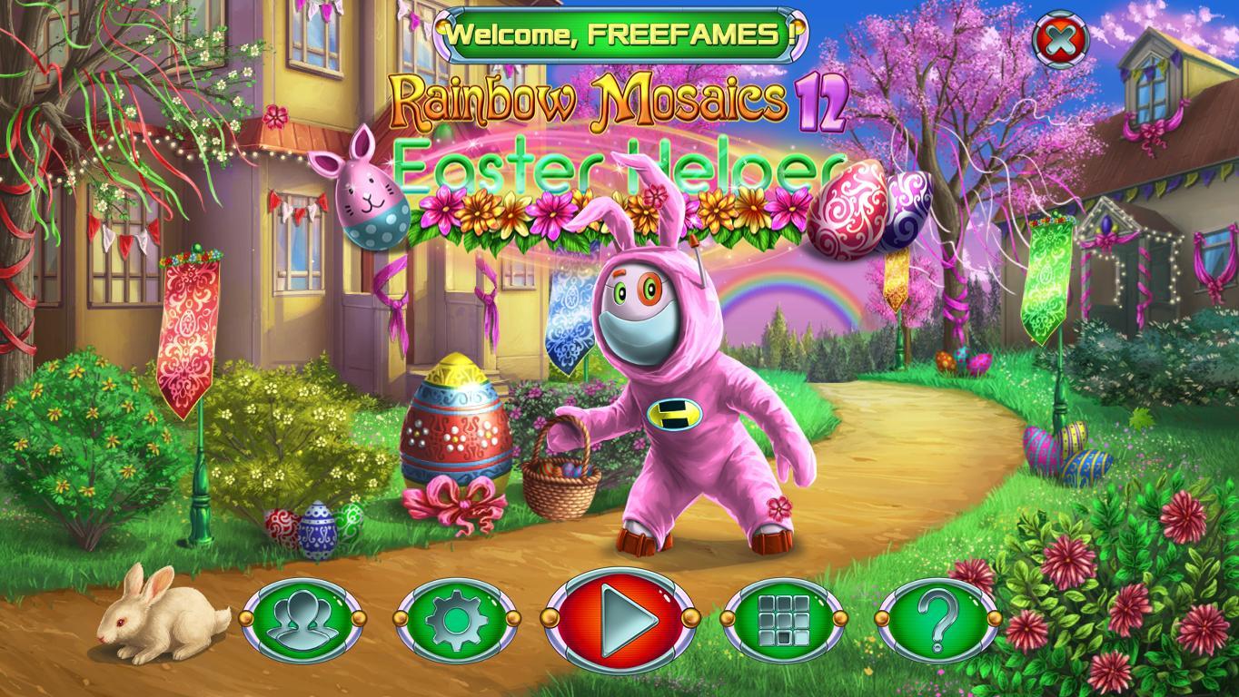 Радужная Мозаика 12: Пасхальный помощник | Rainbow Mosaics 12: Easter Helper (En)