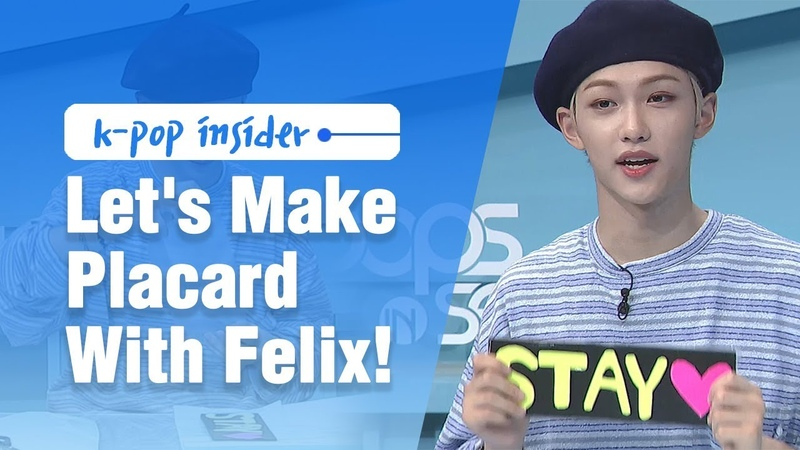 Pops in Seoul Let's Make Stray Kids 스트레이 키즈 Placard With Felix