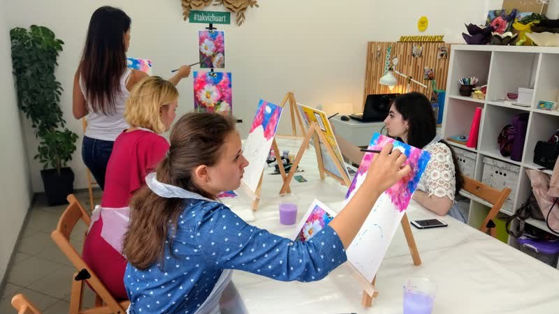 Творческий День рождения Дарины по живописи