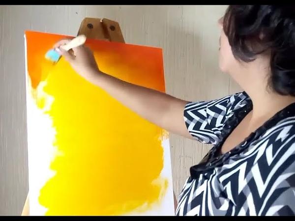 Como Pintar Un Cuadro Con Pintura Acrilica PAINTING TUTORIAL Acrylic For Beginners