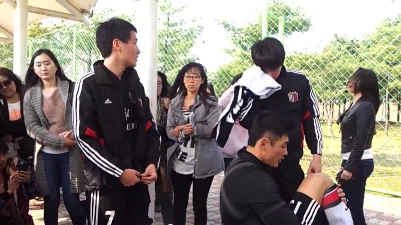 2013.04.13 Kim Hyung Jun Kim Hyun Joong - FC Avengers 3