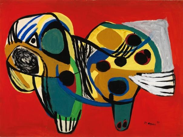 Карел Аппель (arel Appel,1921-2006) нидерландский художник, представитель экспрессионизма, один из основоположников группы