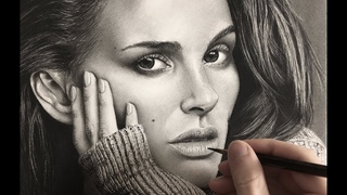 Hyperrealistic Natalie Portman Drawing/ Time-lapse 4K