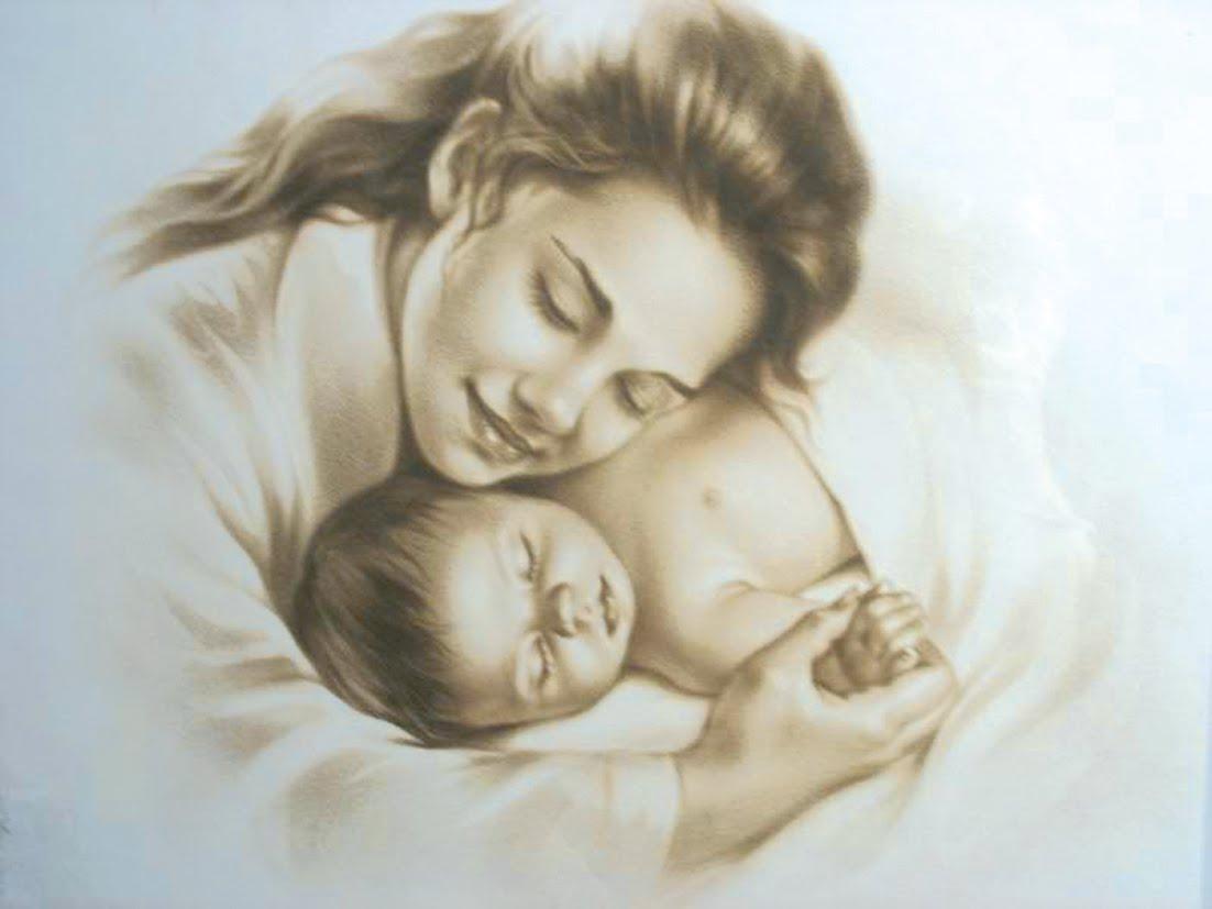 Картинка с рисунком день матери