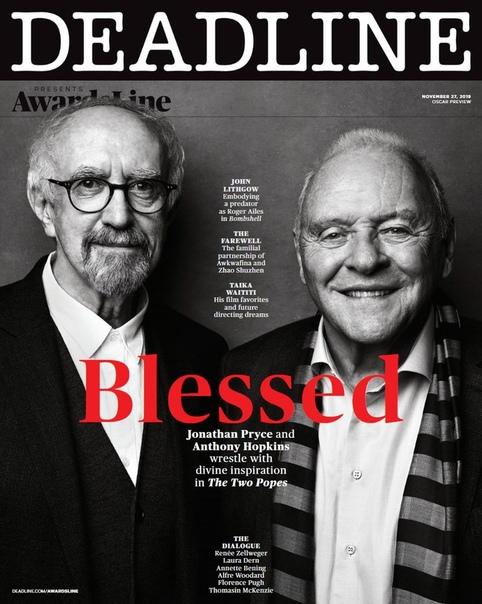 Энтони Хопкинс и Джонатан Прайс в новом номере журнала Deadline Джош Теллес