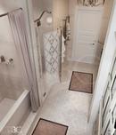 #zolotoe_sechenie68 🔸Дизайн интерьера🔸архитектура🔸ландшафт🔸  .  Ванная комната 11 м2 с душевой и нео