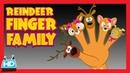 FINGER FAMILY Nursery Rhyme with Lyrics Reindeer Family
