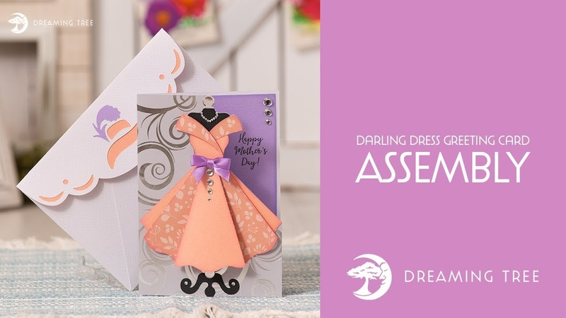 SVG File Darling Dress Greeting Card Assembly Tutorial