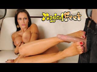 Jenna presley - hot milf footjob [hd porn, pov, feet, fetish, big tits, soles, toes, cumshot]
