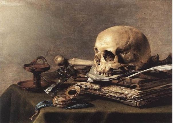 VANITAS. АЛЛЕГОРИЧЕСКИЙ НАТЮРМОРТ Натюрморт возник во второй половине 16 века в Нидерландах вместе с протестантизмом, так как тот не признавал икон или другого церковного искусства. Дословный