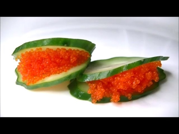 きゅうりの飾り切り 細工野菜の作り方 Cucumber Carving How to make Garnish