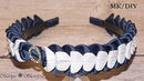 МК школьный ободок канзаши Новинка 2019 DIY MK school kanzashi ring New 2019