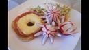 Hawai Toastгавайский тост.Тост Гавайи. Цветы из редиса!