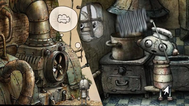 Machinarium   Машинариум ➤ Прохождение 7 ➤ Подруга варит шланг и головоломка про Вентилятор