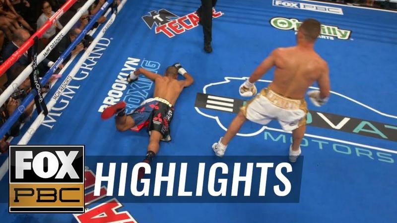 Sergey Lipinets defeats Jayar Inson by TKO with savage left hook HIGHLIGHTS PBC ON FOX