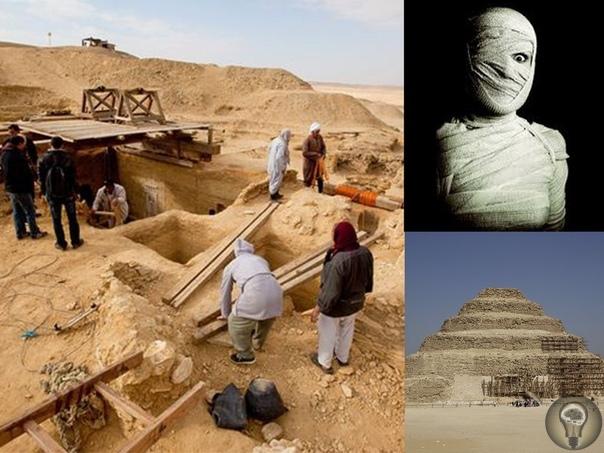 НЕКРОПОЛЕ САККАРА НАШЛИ НЕСКОЛЬКО ДЕСЯТКОВ МУМИЙ И «ПУТЬ В ЗАГРОБНЫЙ МИР» Польские археологи обнаружили в некрополе Саккара рядом с пирамидой фараона Джосера комплекс сооружений, который