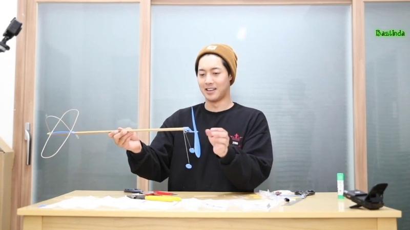 [рус. саб] 19.07.2019 HJ CHANNEL(현중채널) - 추억의 고무 동력기 만들기