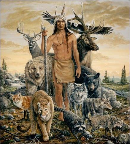 ПРЕВРАЩЕНИЕ ЗВЕРЯ В НЕБО И ЗЕМЛЮ Идея о человекоподобном боге возникла не сразу. Прежде чем люда выдумали бога по своему образу и подобию, они представляли его по образу и подобию животного, из