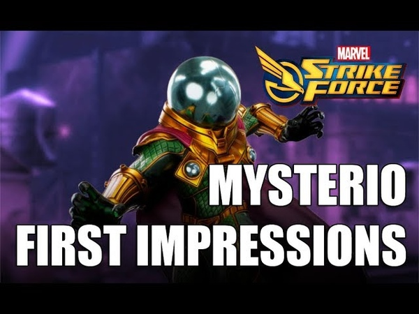 Mysterio Rank up First Impressions Gameplay Marvel Strike Force