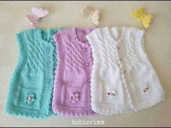 Sweaters sin Mangas para niños - Tejidos en Dos agujas