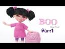 الجزء الاول من العروسه بو 😊 how to make amigurumi doll Boo