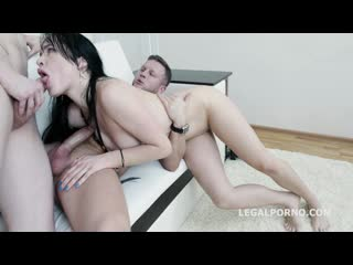 Juicy leila first time dp with balls deep anal, rough sex and swallow gl113