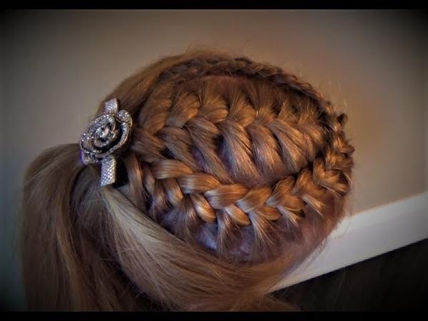 Французская Коса С Кружевной Оплёткой. Peinado French Braid with a Lace Braid Wrap