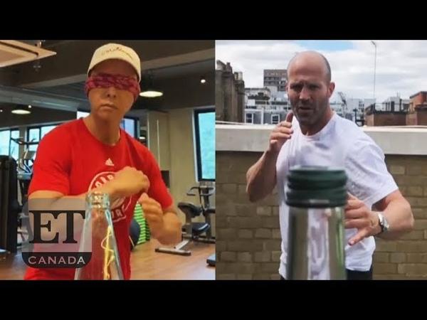 Celebs Do The 'Bottle Cap Challenge'