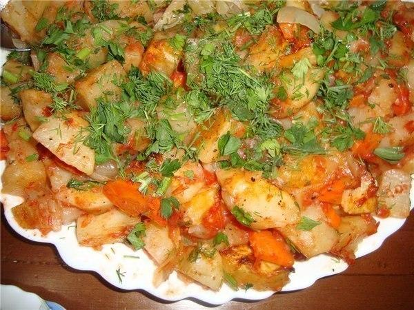Готовим вкусную картошку в духовке.
