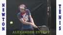 ALEXANDER ZVEREV backhand by Newton Tenis